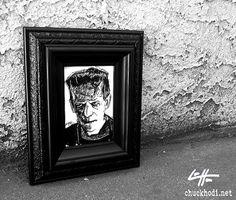 Frankenstein  Original  Classic Monster Dark Art by chuckhodi, $42.00