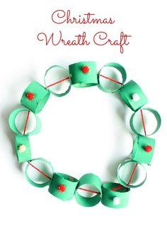 Easy Cardboard Tube Wreath Christmas Craft for Kids