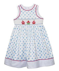 0703b7656624 Blue & White Cupcakes A-Line Dress - Infant, Toddler & Girls