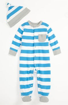 Offspring Bonnie Blue Footie & Hat (Baby) available at #Nordstrom