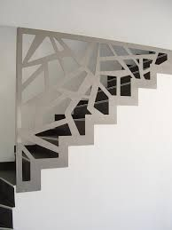This is also true for that basement stairs. Metal Stairs, Modern Stairs, Basement Stairs, House Stairs, Staircase Railing Design, Stair Walls, Stairs Architecture, Interior Stairs, House Design