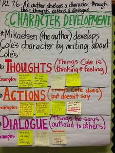 Life in 4B...: RL.7.6 - Character Development & L.7.4 - Word-Solving Strategies