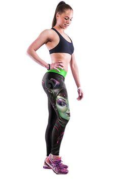 Ninimour- Womens 4d Digital Printed Workout Capri Leggings Stretch Tights b1bdcfef578