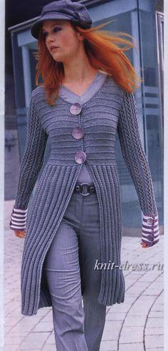 модели пальто спицами