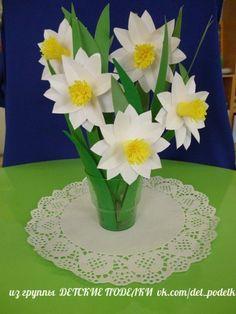 Fotografije na zidu zajednice Spring Crafts For Kids, Diy For Kids, Flower Crafts, Diy Flowers, Easter Crafts, Kids Crafts, Art N Craft, Spring Activities, Mother's Day Diy