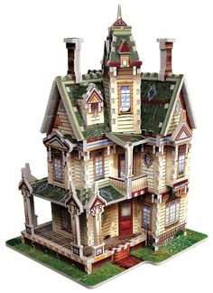 How's this for a Halloween jigsaw puzzle, a Victorian Haunted House? It's a 3D Puzzle from Wrebbit and it would make a terrific table centerpiece, don't you think?  ‪#‎halloween‬ ‪#‎hauntedhouse‬ ‪#‎jigsawpuzzles‬