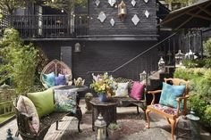 The bohemian summer garden, named The Hendrick's Horticultural Oasis at Blakes Hotel. Matthew Williamson contrasted fabrics from his collection with Osborne & Little with objets d'arts from Rockett St George and antique shops and markets. Matthew Williamson collaborated with installation artist Rebecca Louise Law and Blakes Hotel Kensington on a very special bohemian hideaway. Click to read more. Photograph by Jamie McGregor Smith