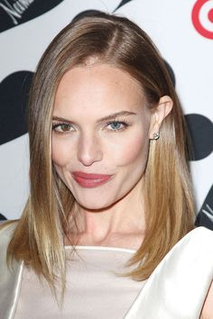 "We can't wait to play copycat with [link url=""http://www.glamourmagazine.co.uk/person/kate-bosworth""]Kate Bosworth[/link]'s sleek and straight side-parted long bob."