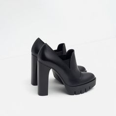 Image 3 of HIGH HEEL LEATHER SHOES WITH TRACK SOLE from Zara