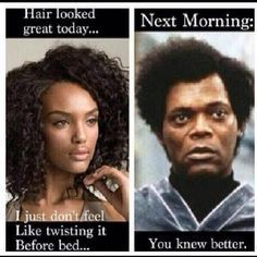 natural hair shrinkage meme
