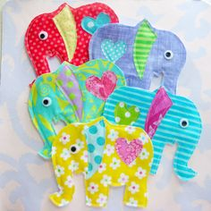 Elephant Appliques by Laurie Star, via Flickr