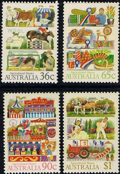 Australia 1986 Agricultural Shows Set Fine Mint SG 1054/7 Scott 1019/22Other Australian Stamps HERE