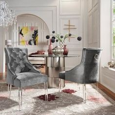Houzz Living Room Chairs Beautiful Blue Dining Room Chairs Set Table I Color Colour Colored Wood French Living Room Chairs, Dining Room Spaces, Furniture, Dining Chairs, Tufted Dining Chairs, Dining Room Decor, Dining Room Interiors, Room Decor, Houzz Living Room