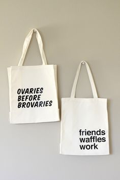 I heart these Leslie Knope quote totes!