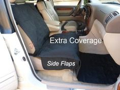 Deluxe quilted and padded single car seat cover 21'Wx72'L Black color