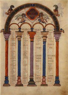 13 Ewangeliarz z Lorsch (łac. Codex Aureus Laureshamensis), zwany również Złotym Kodeksem z Lorsch – średniowieczna bogato iluminowana księga liturgiczna powstała w ok. 810 r. na dworze Karola Wielkiego.