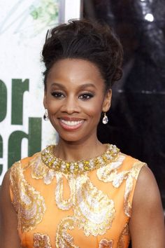 Anika Noni Roses dramatic, updo hairstyle