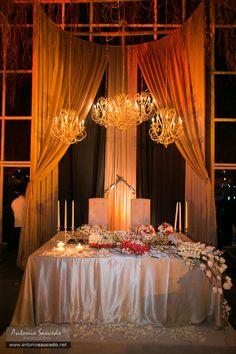Mesa de novios por Banquetes Angel Peralta
