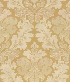 Bonaparte  (0284BPPUREG) - Little Greene Wallpapers - A revision of a classic 19th C French damask, this wallpaper has been given a modern and contemporary feel by using rich shades of colour, layering and a graduation of colour. Shown here in metallic gold and cream. Other colour ways are available. Please request a sample for a true colour match.