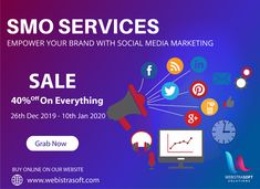 Webistrasoft is one of the topmost trusted and award-winning to help you market and create your online and create a buzz about your through View : Get Everything OFF till JAN 2020 On Call: Content Marketing, Social Media Marketing, Online Marketing, Digital Marketing, Corporate Branding, Business Branding, Information Technology, App Development, Ecommerce
