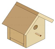 Free pattern and tutorial for building a basic birdhouse