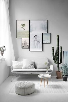 This muted, minimal living room is desert-chic.