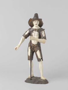 anoniem | Bedelende figuur, school of Simon Troger |