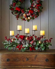 Celebrate the most exciting and cherished holiday of the entire year with Gorgeous Christmas Floral Arrangements that bring nature indoors and set a mood of generosity and appreciation. Tartan Christmas, Plaid Christmas, Country Christmas, Christmas Home, Christmas Holidays, Christmas Wreaths, Christmas Ornaments, Modern Christmas, Homemade Christmas