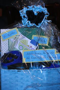 """Gift Basket I made for a """"not the mama"""" baby shower"""