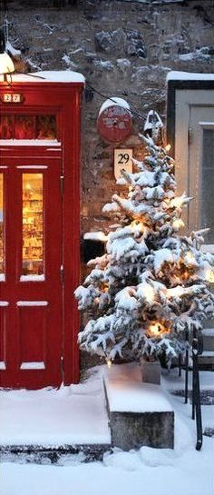 Christmas on Petit Champlain Street, Quebec, Canada