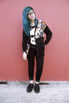 skull printed pullover sweater, skeleton printed sweater, white black skull pullover #skull #printed #pullover #Sweater www.loveitsomuch.com