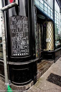 Pub Menu - Dublin (Ireland)