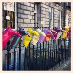 Hunter wellies outside an Edinburgh office. Wellies Rain Boots, Hunter Rain Boots, Art Boots, Rain Boots Fashion, I Love Rain, Pumped Up Kicks, Shoes Too Big, Splish Splash, Girls Shoes