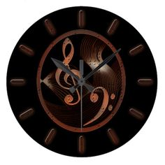 Steampunk Music design wall clock