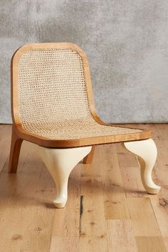 woven cane lounge chair #anthrofave