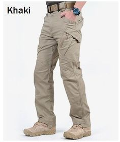 IX9 City Tactical Cargo Pants Men Combat SWAT Army Military Pants Cotton Big Pockets Stretche Paintball Clothing Casual Trousers