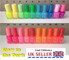Glow in dark neon #fluorescent nail polish varnish #luminous #paint uk seller,  View more on the LINK: 	http://www.zeppy.io/product/gb/2/322272590321/