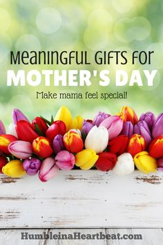 Mother's Day is coming! Give your mom something more meaningful than what you can buy at the store. She'll appreciate your time and love a whole lot more!