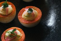 The Best Deviled Eggs Are Sous Vide Deviled Eggs Improve your app game. Sous Vide devil eggs are creamy and … Devilled Eggs Recipe Best, Best Deviled Eggs, Deviled Eggs Recipe, Onion Recipes, Egg Recipes, Thanksgiving Deviled Eggs, Southern Deviled Eggs, Cooking Pork Chops, Cooking Bacon