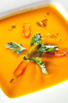Sopa de calabaza - ¡nos encanta! Homemade pumpkin soup - we love it!