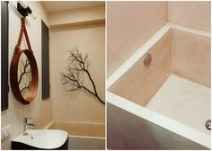 Whether to simplify one's lifestyle, reduce expenses, or call a hip neighborhood home, micro-apartments are becoming more and more popular. Here are a few small space tips from a tiny, but well-appointed home that makes the most of 350 square feet. Marble Bathtub, Diy Bathtub, Small Bathtub, Bathtub Remodel, Bath Tub, Small Space Design, Small Space Living, Small Spaces, Living Spaces