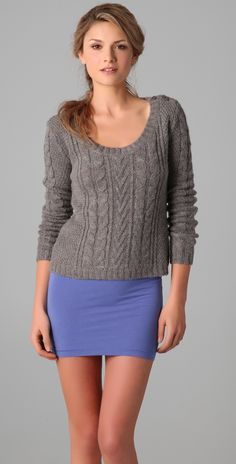 Splendid Classic Cable Sweater