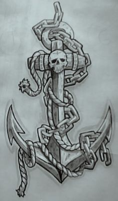 Skull And Anchor ♥