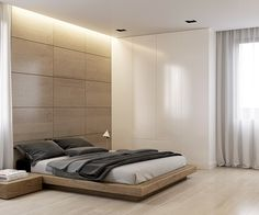 Master bedroom design and 3D visualization on Behance