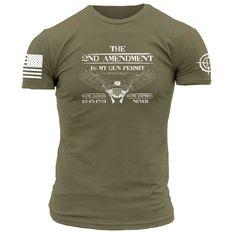 eadd4de741f Lil Red Danger - Gun Permit - Men s. Grunt StyleTactical ClothingGreen  ShirtGunsShooting GearRedT ...