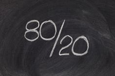 Pareto's Principle - the law of vital few and trivial many.