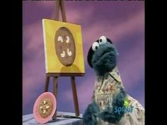 Painting - Cookie monster paints a cookie and eats it AWESOME Art Video website!!