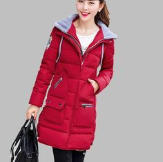 2015 New Winter Down coat Wear High Quality Parkas Winter Jackets Outwear Women Long Coats Women Plus Size Winter Coats ZL0746 US $112.98-122.98 To Buy Or See Another Product Click On This Link  http://goo.gl/yekAoR