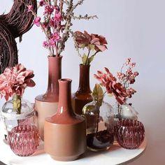 Vase, ca D:15cm x H:21cm, beere dunkel