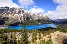 Peyto Lake in Banff National Park in Alberta, Canada. https://www.facebook.com/SuitcasesAndSunglasses